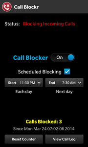 Call Blockr screenshot