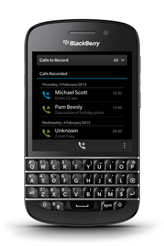 BlackBerry Q10 Screenshot