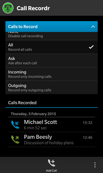 Call Recordr screenshot