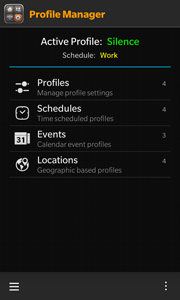 Profile Manager screenshot