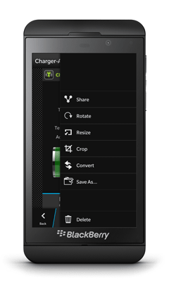 BlackBerry Z10 Screenshot